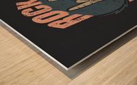 rock forever_ Wood print