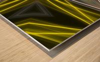 Yellow Neon Lights  Wood print