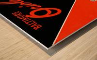 Row One Retro Remix Baltimore Orioles Press Guide Impression sur bois
