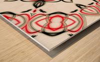 Abstract art Wood print