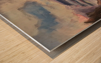 Watercolor Beachscape Wood print