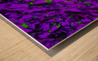 Fluttering purple Impression sur bois