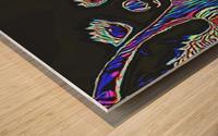 Neon Dreams Wood print