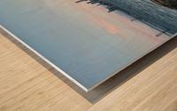 San Francisco City Skyline At Sunset Wood print