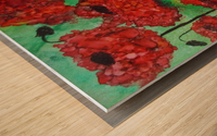 Thinking of Poppies Wood print