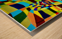 Watecolor Contermporary Pop Surrealism Clown  Wood print