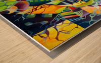 Pop Currealism Contemporary Vivid Utopia Wood print