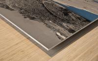 2 Bodies 1 Beach Wood print