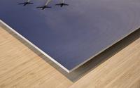 JET PLANES EXHIBITION Wood print