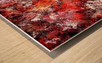The red sea foam Wood print