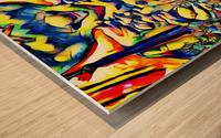 Jeweled Waters Wood print