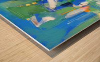 Azure Ascent Wood print