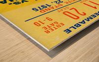 ticket wall art Wood print