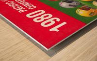 1980 Pac 10 Football Poster Wood print