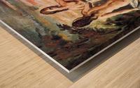 Judgement of Paris by Cezanne Wood print