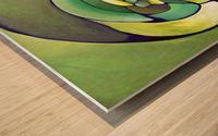 Artdeco Twisted Pattern  Wood print