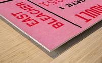 university of georgia college football ticket stub print on wood Wood print