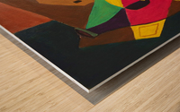 Social Distancing Wood print