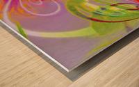 Infinity Painting Green Wood print