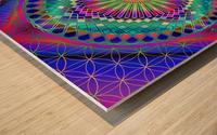 Vintage Sun Mandala Wood print
