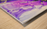 Purple Mirage II Wood print