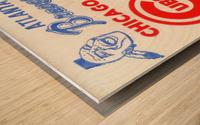 1974_Major League Baseball_Chicago Cubs vs. Atlanta Braves Ticket Stub Art Wood print
