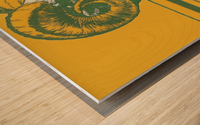 vintage colorado state university rams wood sign Wood print