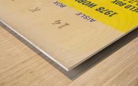 1978 world series la dodgers dodger stadium field box Wood print