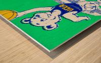 1983 notre dame ucla bruins college basketball Wood print