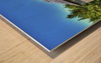 Toit bleu Wood print