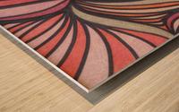 Scarlet Bluff  Wood print