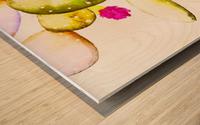 water color cactus flower Wood print