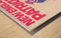 1972 new england patriots schaefer stadium art Wood print