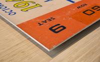 1946 michigan army ann arbor college football ticket art Wood print