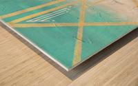 Art deco geometric II Wood print
