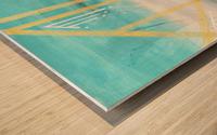 Art deco geometric III Wood print
