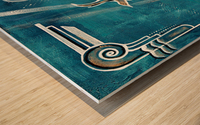 Art deco Swallow  Wood print