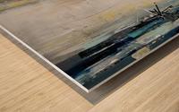 Art deco Moonshine V Wood print