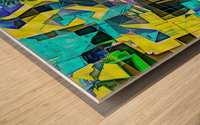 Hyperkaleidoscopically Wood print