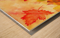 Autumn leaves Serenade  Wood print
