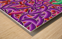 curve 1 Wood print