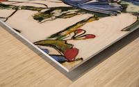 Louisiana Blue Jay Study on Wood Wood print