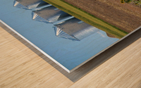Grain Silos Wood print