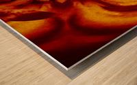 Lotus in Gold Satin Wood print