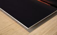 coucher flamboyant Wood print