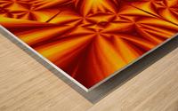 Fire Flowers 103 Wood print