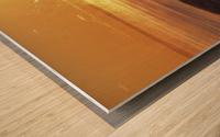 A Splash of Sunrise Wood print