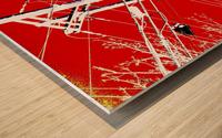 COTE SAINT LUC RED Wood print