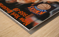 1988 New York Knicks Mark Jackson Wood print