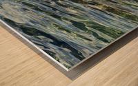 Close up of water on shore of slovenian resort town Piran Slovenia Wood print